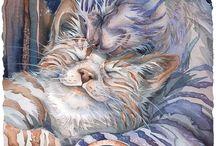les chats dans l'art / by josefa carreira