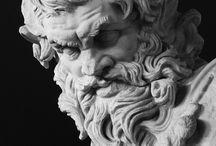 головы скульптур