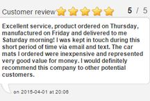 Car Mats Reviews - Favourite Friday Feedback - 5 Stars ***** / Each Friday we pick our Favourite customer review and publish it on our website and social media.