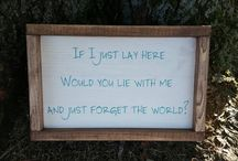 Rustic Wood Framed Signs