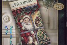 Cross stitch: Christmas stockings