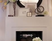 living room mantle ideas / by Kelly
