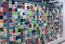 Tile walls for art