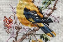 birds cross stitch