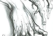 karakalem-çizim çalışmaları