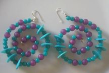 Handmade spiral earRings / Πρωτοτυπα Χειροποίητα σκουλαρίκια-κρικοι σε σχημα σπείραλοειδες με όμορφες χρωματιστές χάντρες