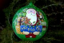 My #Work: #Christmas #balls & #ornaments / Christmas ornament Glass balls hand painted, Jewel Christmas trees  & co. If you are interested, write me at annalisa75p@gmail.com. Thank you!