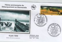 D-Day Normandy Postage Stamps Philately / Stamps, souvenir sheets and FDC about the commemorations of D-Day #philately #dday