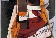 Técnica de colagem e cubismo nas obras de Juan Gris