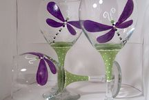 Painted Wine Glass / by Annette Sweetman