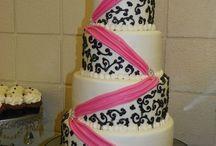 Pink/black wedding