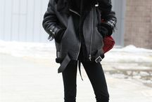 Fashion winter all black