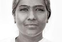 Souls / Faces of souls after deep meditation.