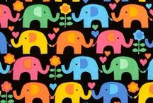Elephants by Timeless Treasures
