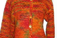 Hand Knit Designs / These wonderful knitting projects were designed specifically for Decadent Fibers.  We offer the yarn in the colorway shown or we will be more than happy to dye any color that you would like.  Our project patterns are free with the yarn puchase.