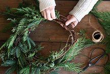 wreath and christmas decor