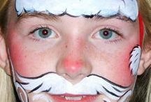 ansiktsmaling jul