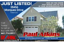 Marketing Real Estate / Agents should market homes in several different forums. Direct mail, internet, and networking.  ScvPaulSold@gmail.com 661-714-0911