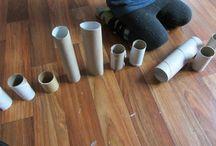 Zabawy z rolkami po papierze