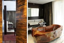 Contemporary Bathroom / In The Wooden Bathroom, you will find a variety of lovingly designed and high-quality wooden Bathtub, Sink and Bath for a Contemporary Bathroom.