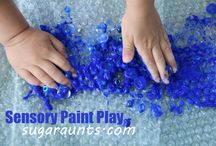 Messy play and paint ideas