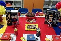 Festa Escolar - Tema Super Homem e Mulher Maravilha