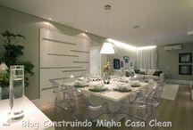 Salas de jantar modernas! / Veja + Inspirações e Dicas de decoração no blog!  www.construindominhacasaclean.com