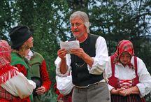 Sweden- Nås traditional costume / Folkdräkt och folkliga textilier från Nås socken, i Dalarna. Traditional clothing and textiles from Nås, Dalarna, Sweden.