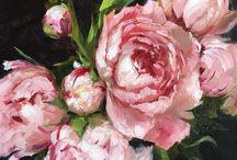Flower paint oil