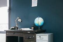 Chambre bleu industriel