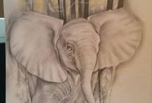 Charlene Malone Heggie's drawings and paintings