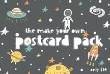 The Make Your Own Postcard Pack / Ever wanted to create your own hand drawn postcards?? Well now you can. This amazing collection of 20 different packs includes not only 251 premade postcards, but hundreds of hand crafted illustrations as well.