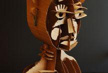 papírová sculpt - busta