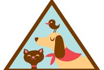 Brownies - Pets / Requirements for earning the Brownie Pets Badge-- Step 1: Find out what different pets need. Step 2: Help a pet stay healthy and safe. Step 3. Help a pet feel loved. Step 4. Feed a pet. / by Girl Scouts SU24
