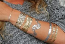 Metallic Gold Tattoos