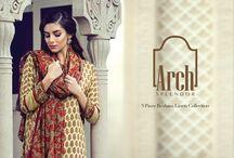 Arch Splendor   3 Piece Resham Linen Collection
