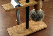 hjemmelaget barberstativ