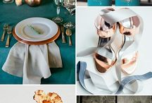 Copper Weddings / An inspiring collection of copper wedding decor, stationery and color palettes