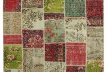 Patchwork rugs / distressed rugs vintage rugs overdyed rugs