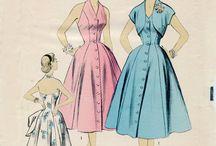 vestiti vintage / cartamodelli