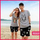 fashion couple / Kode : 23093  HARGA :  105.000  Size :  – Pria : LD=50cm P=70cm (L)  – Wanita : LD=42cm P=65cm (M )  ( include Celana )  Bahan : Cotton Combi Baby Terry