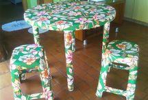 Forrar móveis com tecido