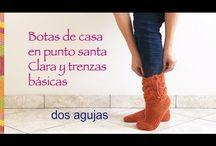 botas tejidas