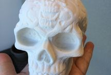 Celtic Skull / With a file provided by 3DFileMarket.com we built two Celtic Skulls on our SLS using DuraForm PA. They came out fantastic, check out all the wonderful detail.