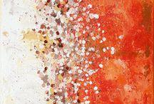 In my studio... painting / Mes peintures