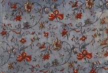 Indian Floral patterns / Beautiful patterns designed in the indian floral style with trailing branches, fantastic, imaginary and stylized flowers and leaves that became so popular in Europe during the 18th and 19th centuries through the introductions of printed cotton imported from India by the East India company.