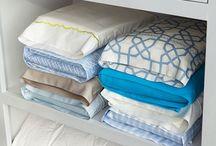 Linnenkast / Ideeën en tips voor het handig opbergen van al je linnengoed (beddengoed, handdoeken etc).
