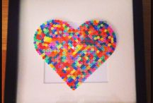 Hama beads - Cuori