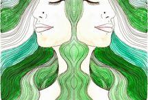 LOLA KABUKI / Ilustraciones y pinturas de Lola Kabuki. www.lolakabuki.com #art #arte #watercolor #acuarela #ilustración #artista