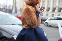 Fur on the streets / fur streetstyle and fashion looks around the world
